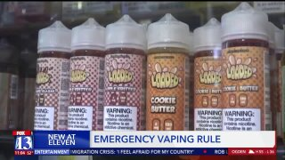 Utah health officials pass emergency rule limiting who can sell flavored e-cigaretteproducts