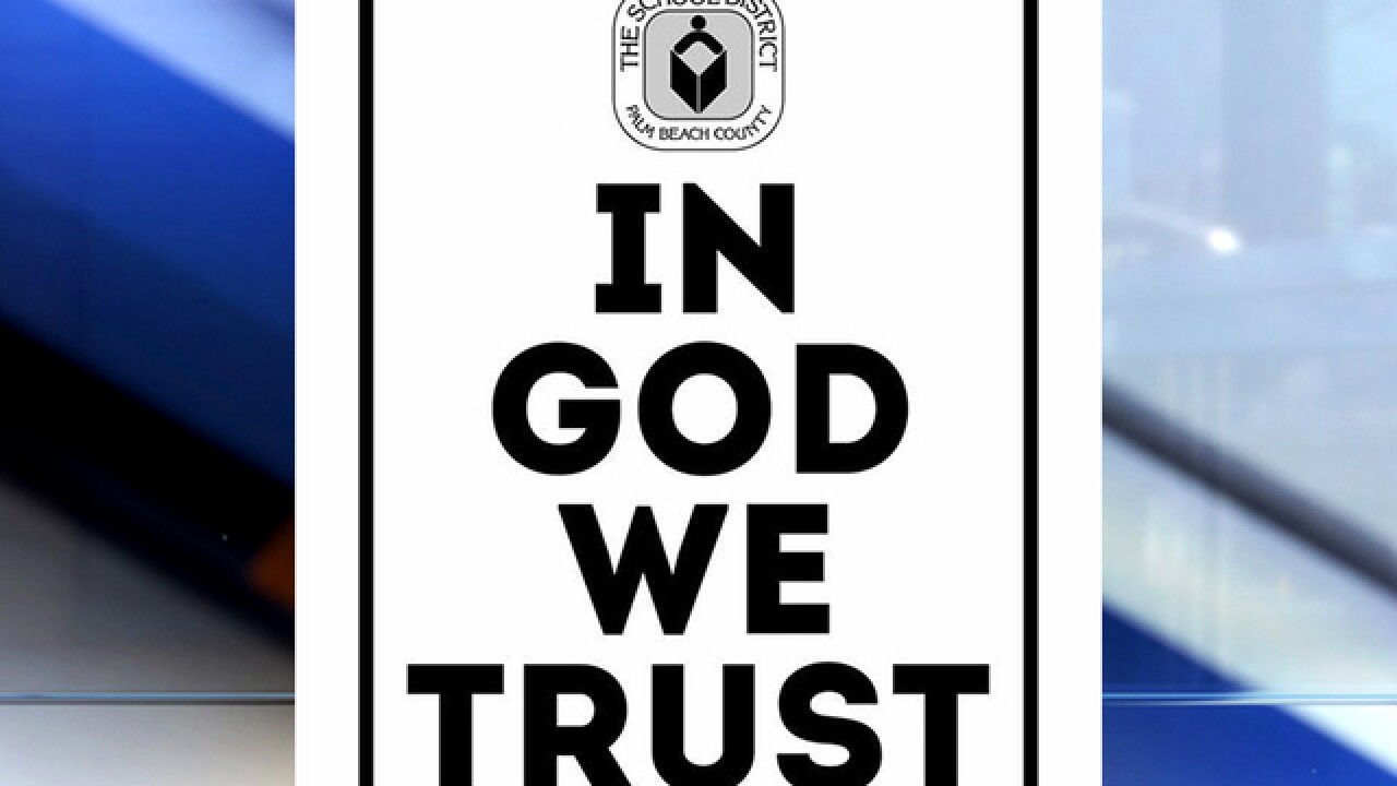 'In God We Trust' now must be displayed in all Florida schools, school buildings