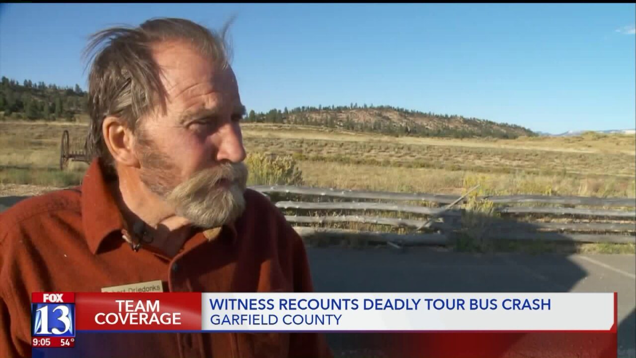 Good Samaritan describes horrific moments after tour bus crash near Bryce Canyon