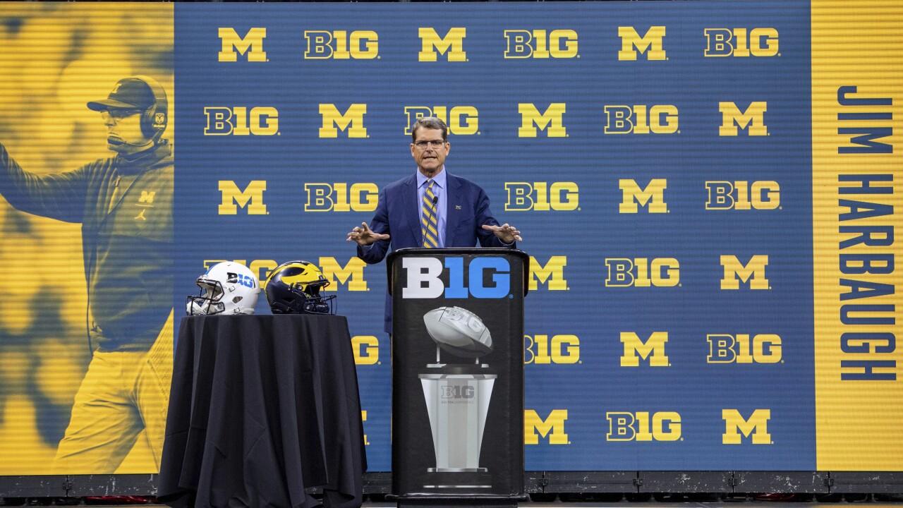 Jim Harbaugh Big Ten Media Days Football