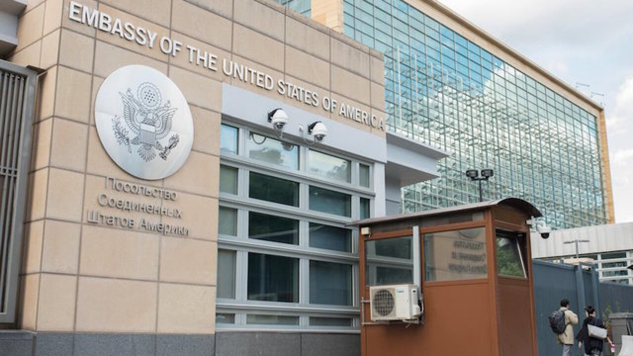Suspected Russian spy caught working inside US Embassy in Moscow
