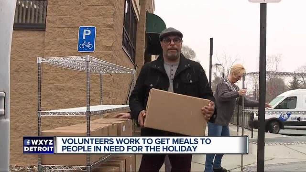 Thanksgiving meals delivered to seniors