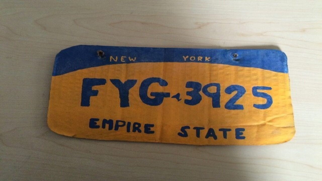 NY woman arrested for making own license plate
