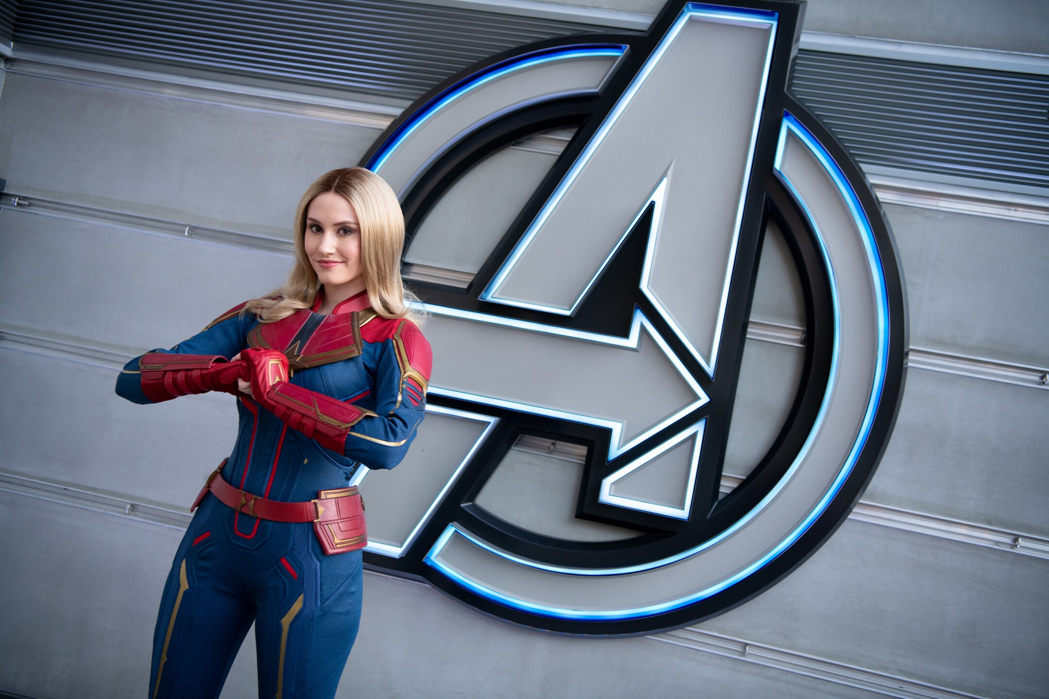 Captain Marvel at Avengers Campus