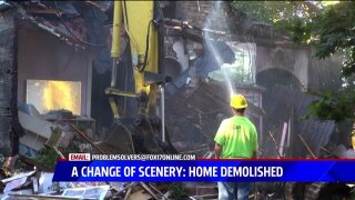 Neighbors relieved with blighted homeremoval