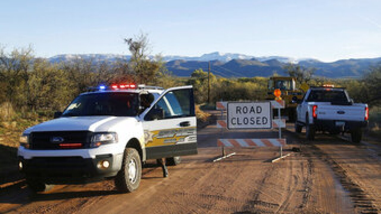 Gila County will receive a $21 million federal grant to build a bridge over Tonto Creek where three young children died last November when a family's truck was swept away in rural east-central Arizona. Photo via AP.
