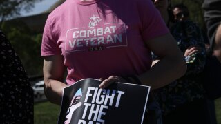 WCPO transgender military ban protest generic