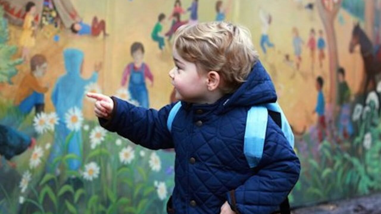 Britain's Prince George starts nursery school
