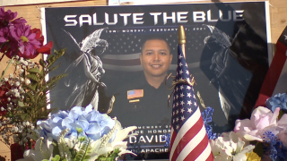 Vigil honors fallen White Mountain Apache Police Officer David Kellywood