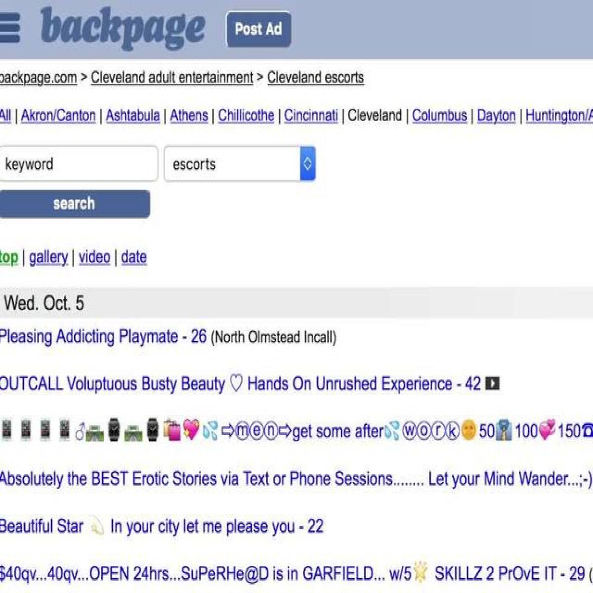 www cleveland backpage com