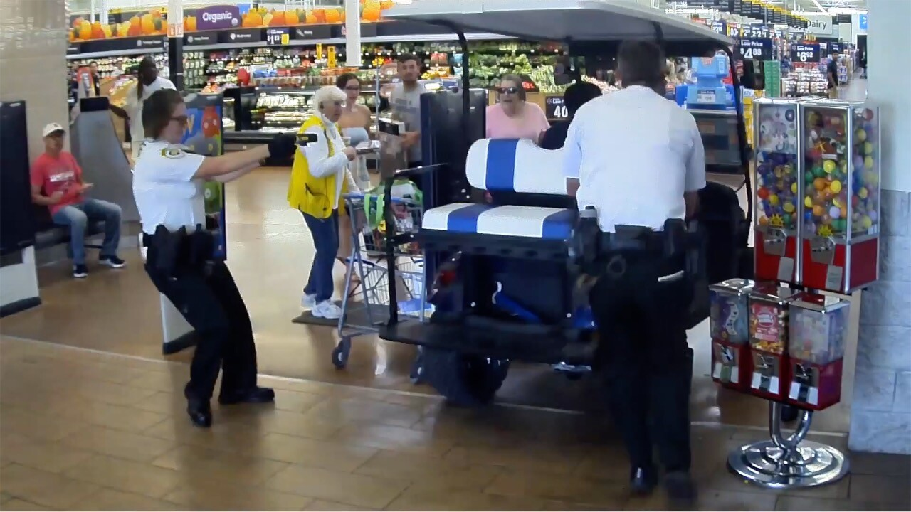 Florida man drives golf cart into Walmart as deputies chase him with a Taser