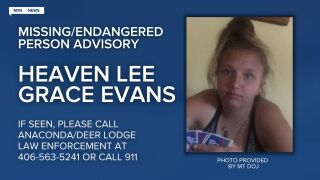 A Missing-Endangered Person Advisory has been issued for 16-year old Heaven Lee Grace Evans