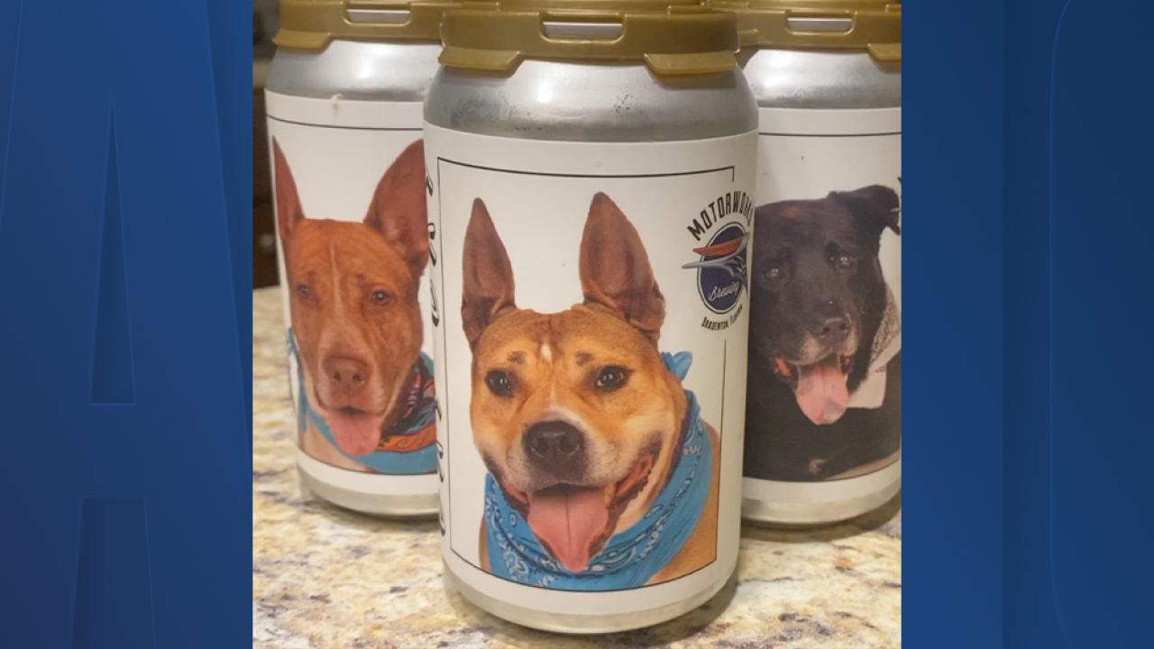 Minnesota woman recognizes dog missing for three years on Florida brewery beer can