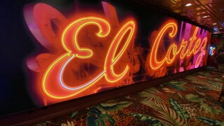 El Cortez Hotel & Casino is one the oldest and most historic properties located in downtown Las Vegas as seen in June 2021