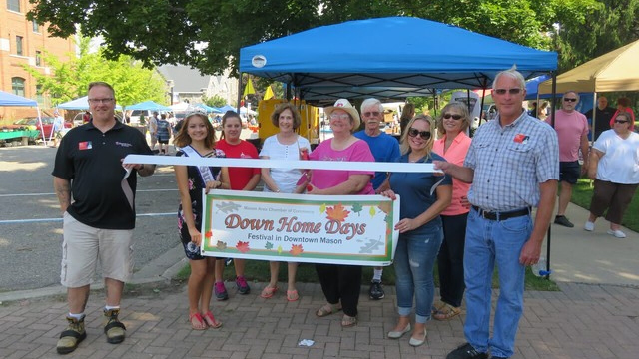 Ribbon Cutting Photo for Mason's Down Home Days