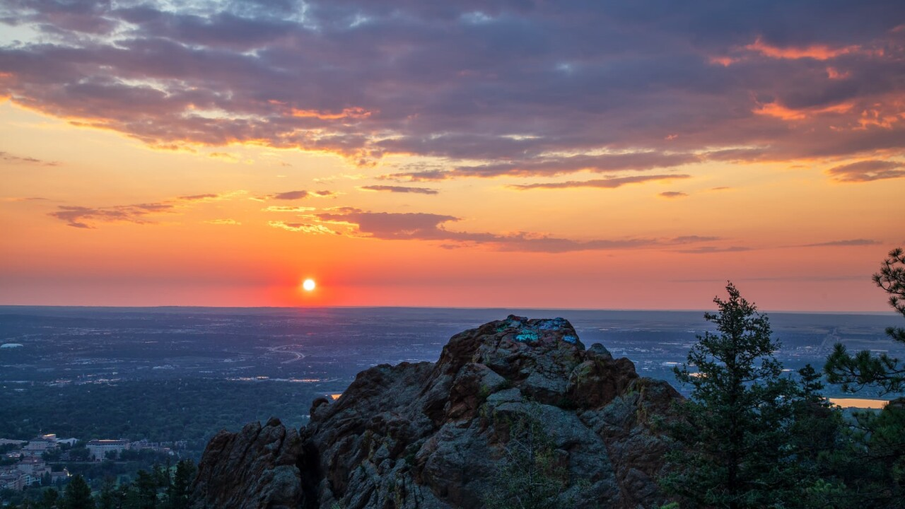 Bruce Hausknecht Colorado Springs sunrise Old Stage Road