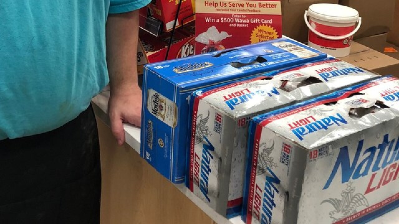 Brothers arrested for stealing cases of beer