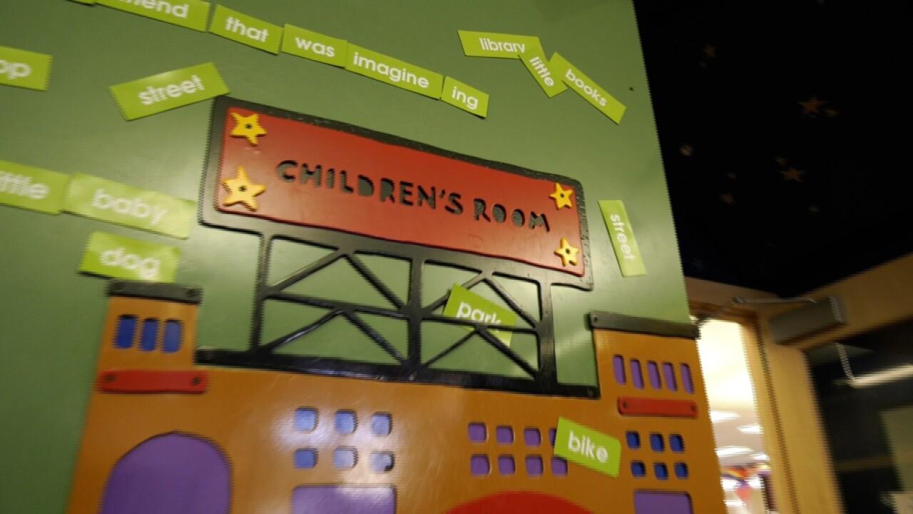 The Children's Room entrance inside the Bozeman Public Library