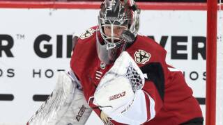 Red Wings acquire G Eric Comrie from Coyotes for D Vili Saarijarvi