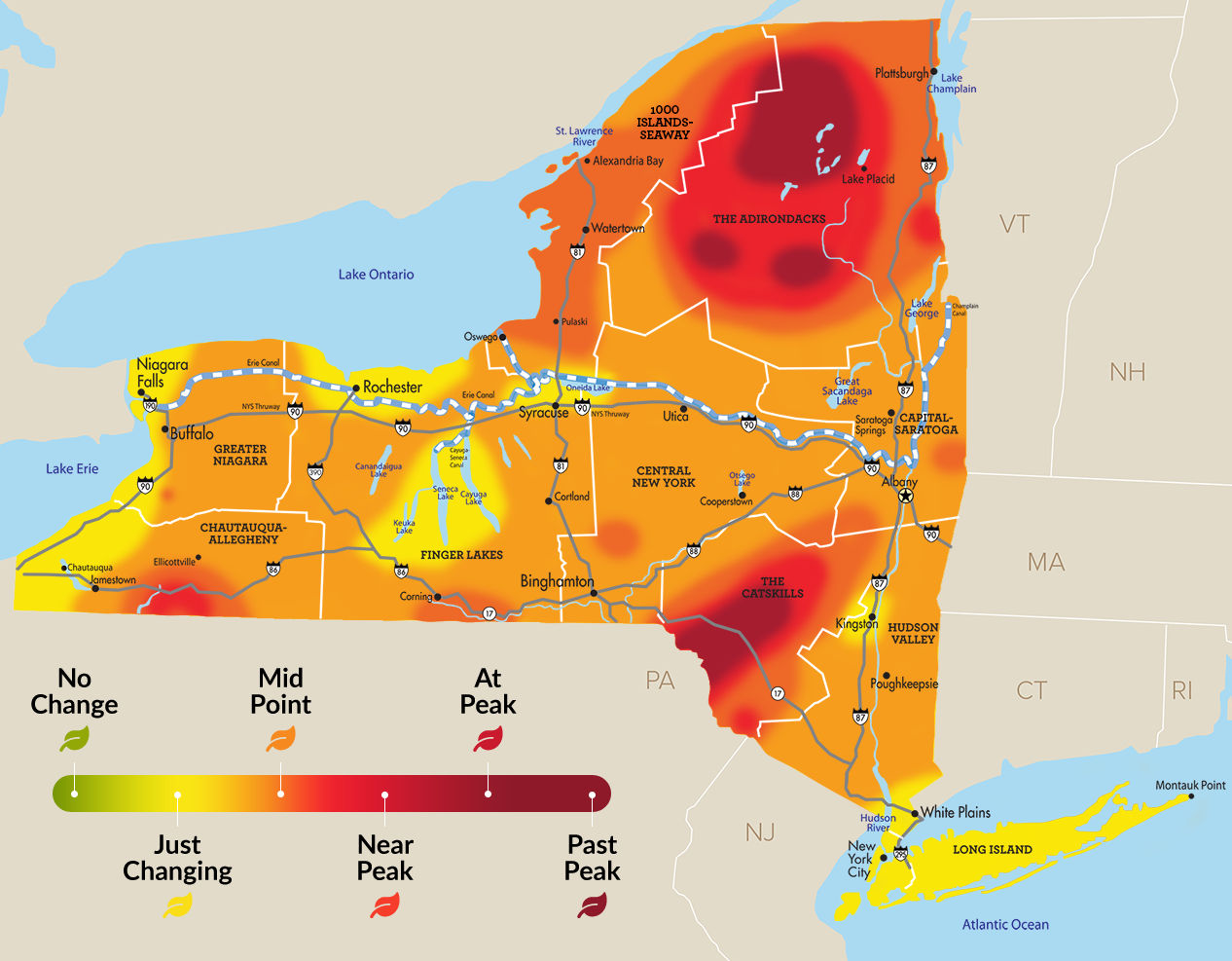 Fall foliage report: near peak in portions of Southern Tier