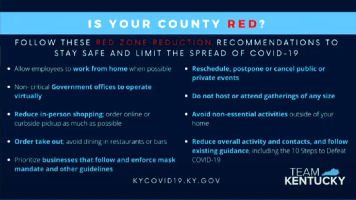 What to do if Kentucky county is red
