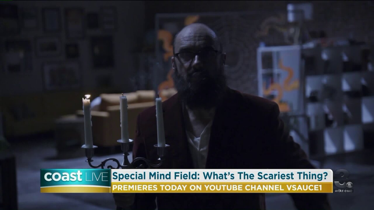 """Michael Stevens talks about the terrifying YouTube special """"What's the Scariest Thing?"""" on CoastLive"""