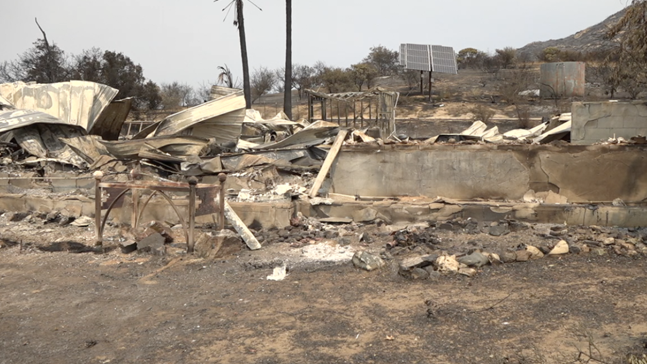 Jamul couple loses home to Valley Fire, planning for 'fireproof' rebuild