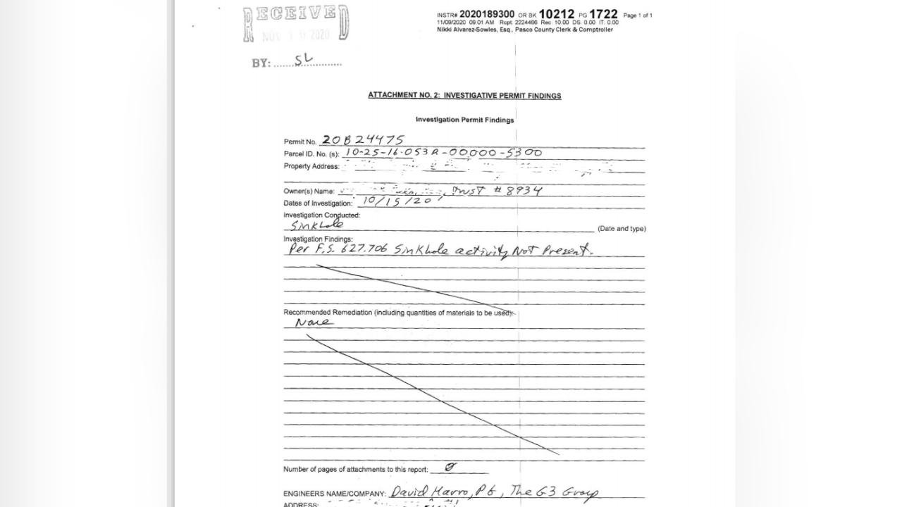 redacted sink hole report