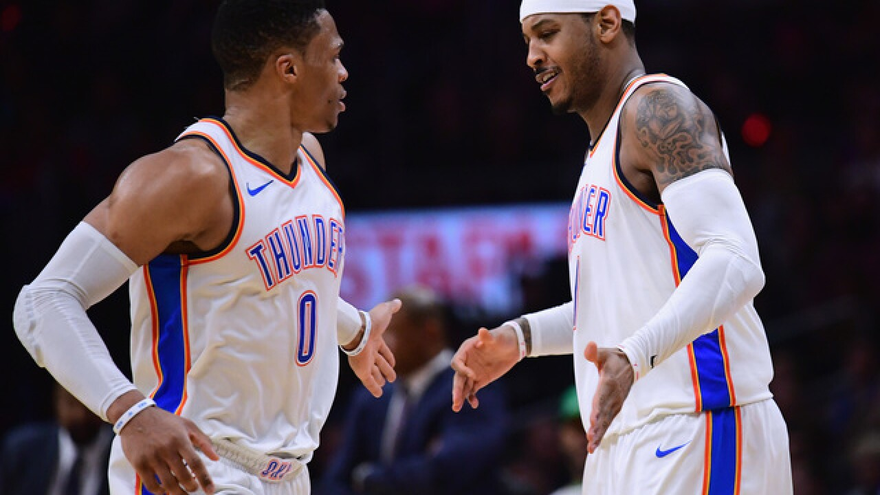 Thunder stars Westbrook, Anthony to return against Cavaliers