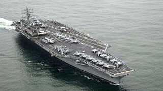 Fire breaks out aboard the aircraft carrier USSNimitz