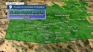 A rare weather pattern will take shape through the end of the week and bring a significant flash flood threat back to Arizona. We are used to seeing weather systems move west to east across the state.
