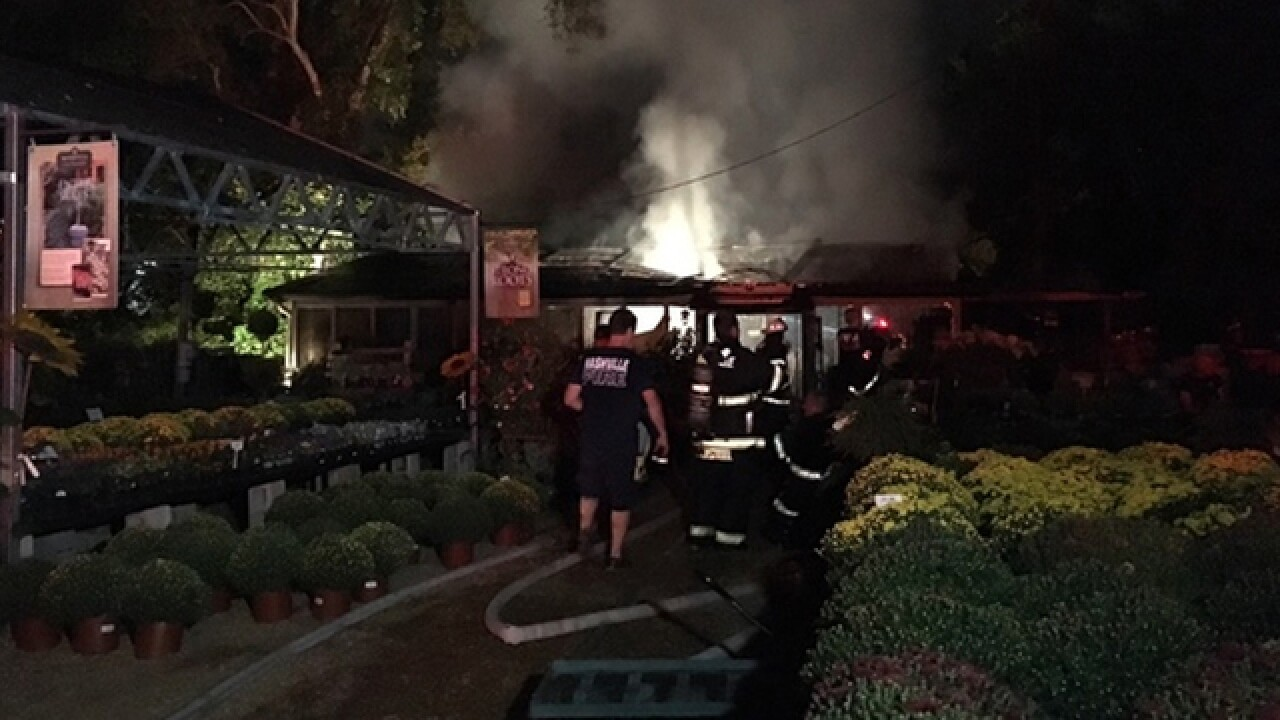 Belle Meade Garden Center Damaged In Fire