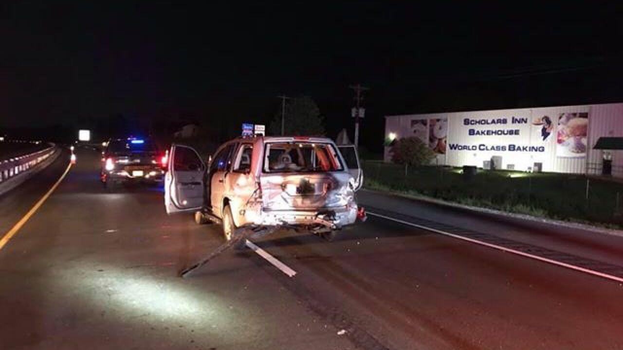 Three Injured In Single-vehicle Crash On Interstate-69 In
