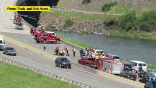 Driver injured in crash on I-15