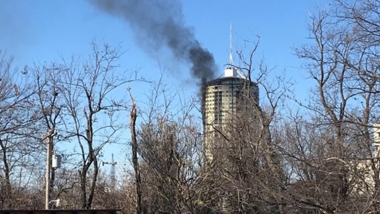 Crews respond to fire at University Club Tower