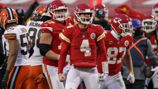 Chad Henne APTOPIX Browns Chiefs Football