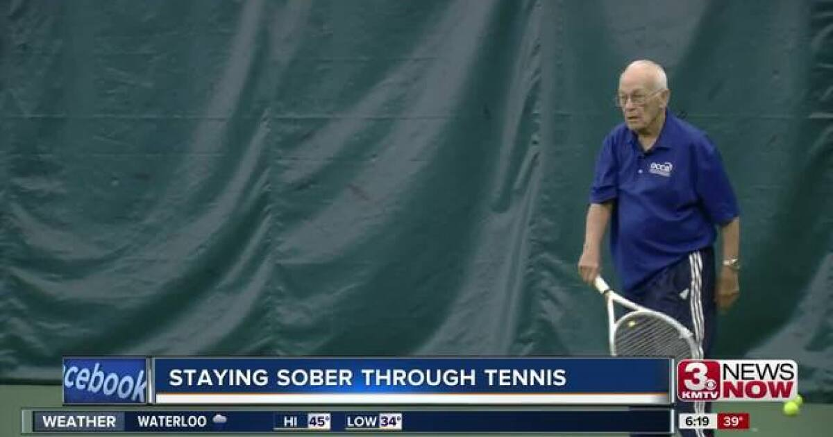 Tennis Helps 92 Year Old Man Stay Sober