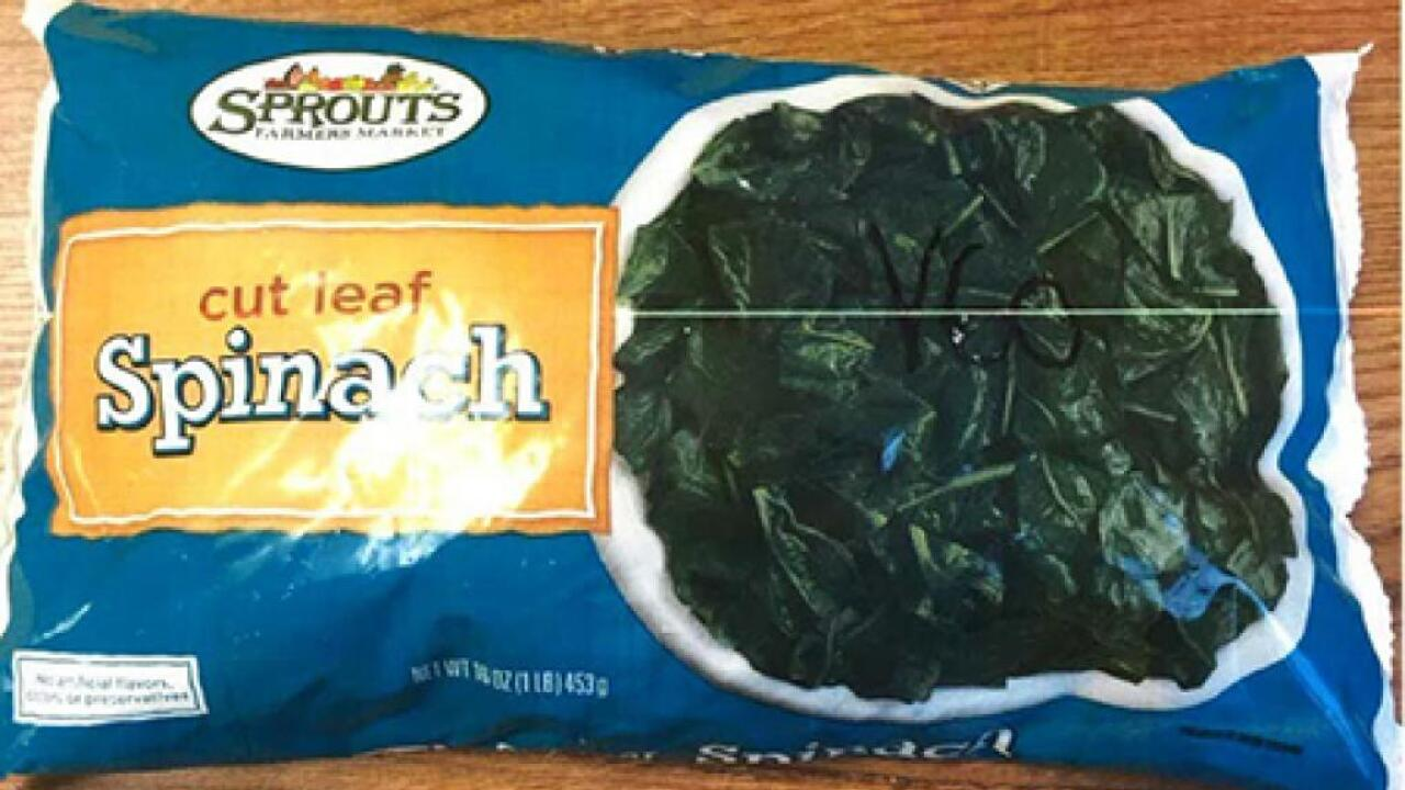 Sprouts Farmers Market recalls frozen spinach due to listeria concerns