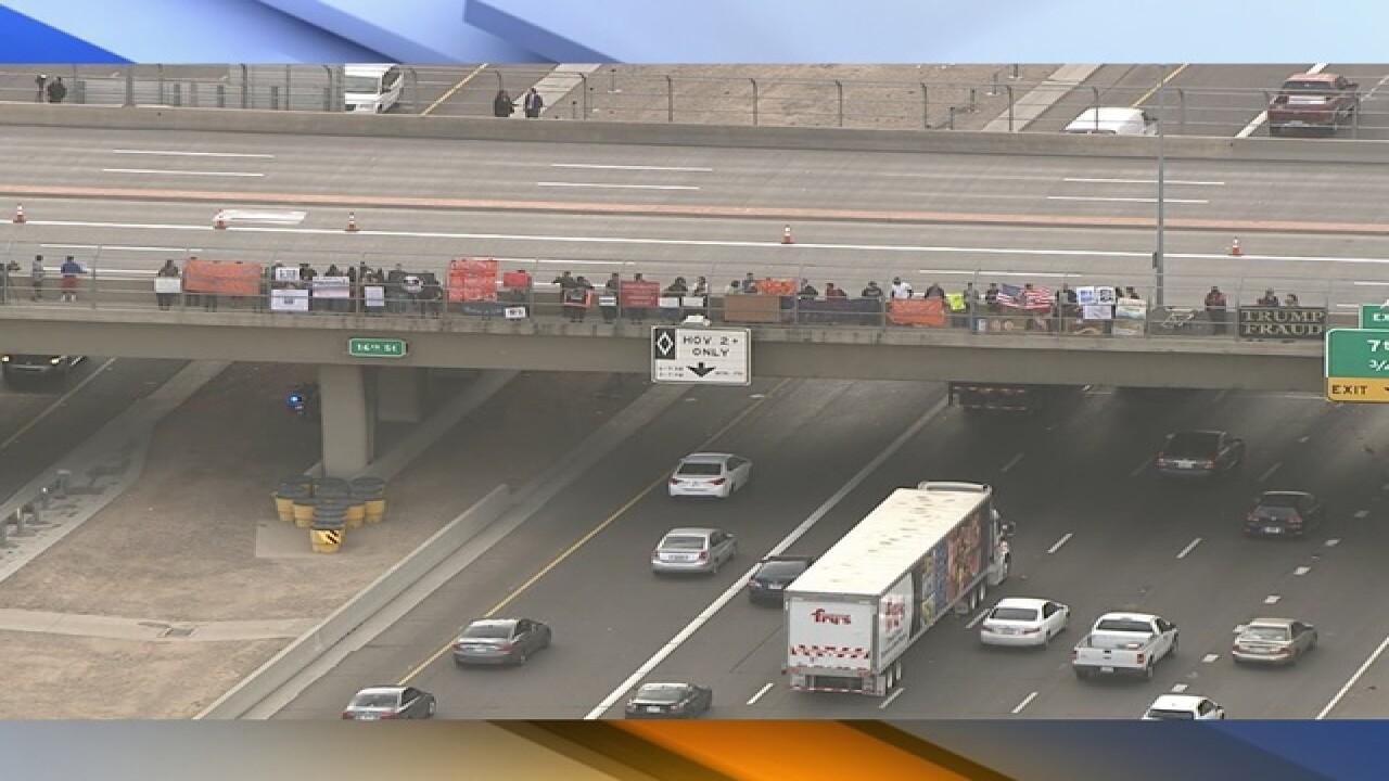 DPS getting ready for protest on I-10 in PHX