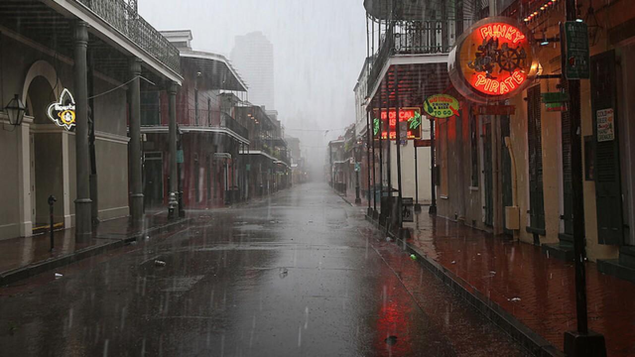 Harvey re-enters Gulf, rain shifts to Louisiana