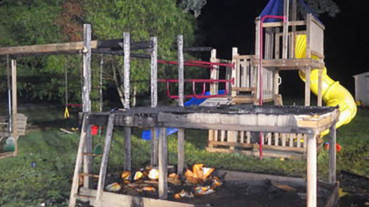 Playground equipment destroyed in fire in Eden