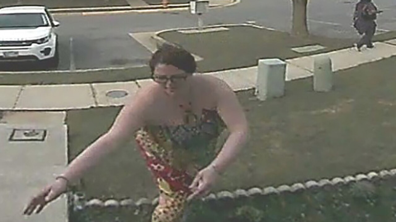 Woman steals package in Owings Mills