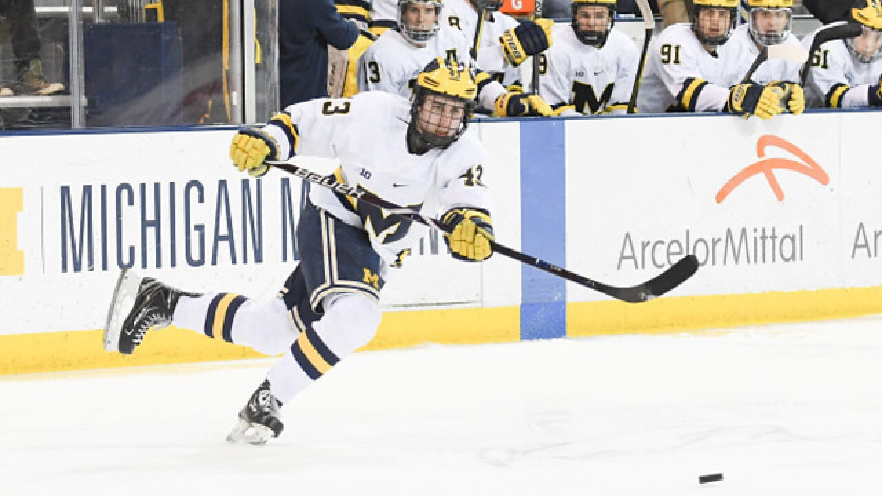 Michigan relying on best pals and future NHL stars Quinn Hughes, Josh Norris