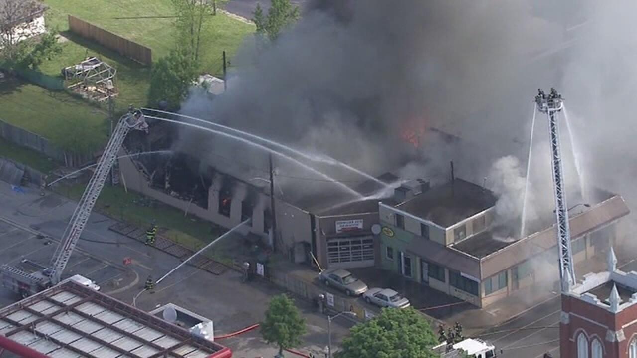 Crews battle massive fire at Windsor building