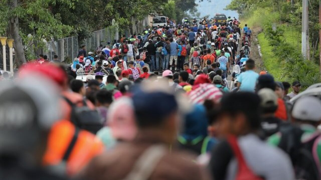 A caravan of migrants is nearing Mexico's border. Will authorities turn them back?