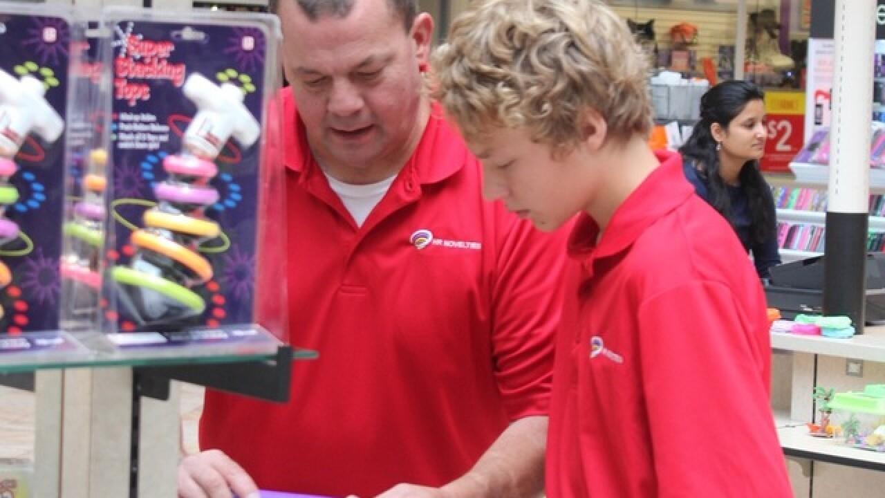 Father-son team launch unique toy kiosk