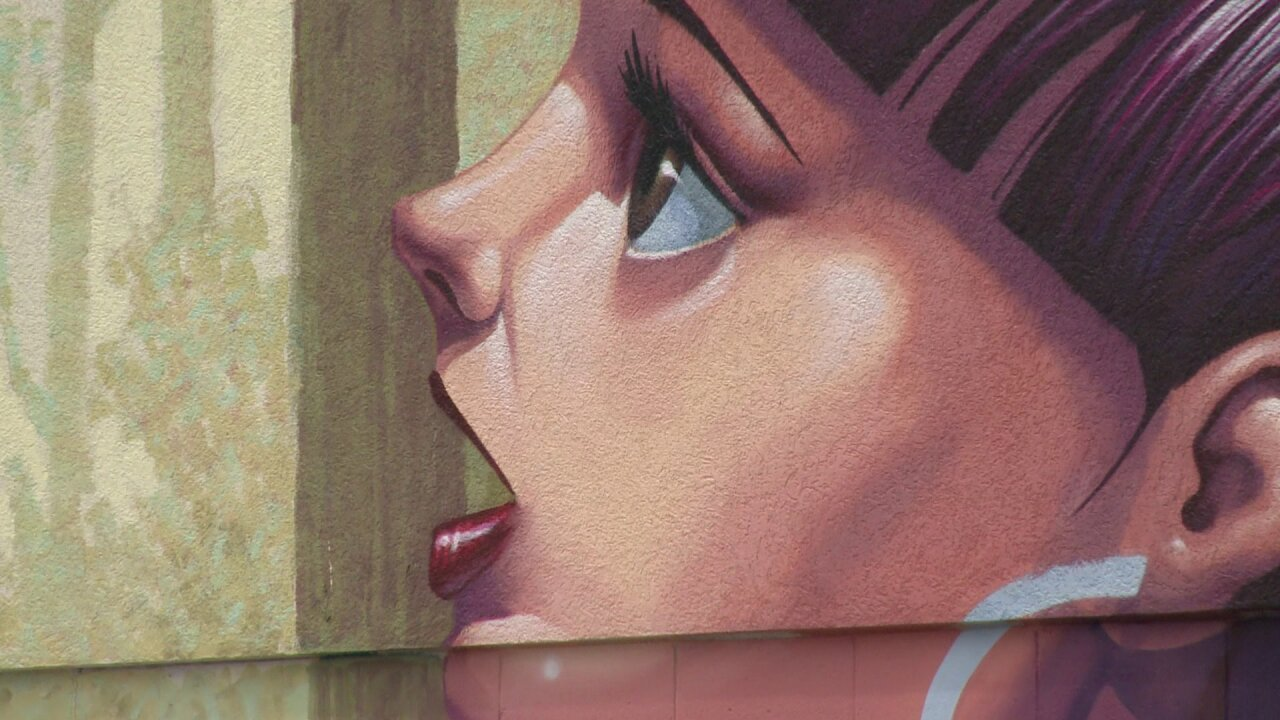 Is mural of girl feeding beaver at adult bookstoretaboo?