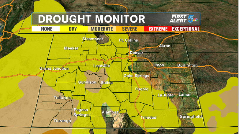 Drought monitor as of September 24, 2019
