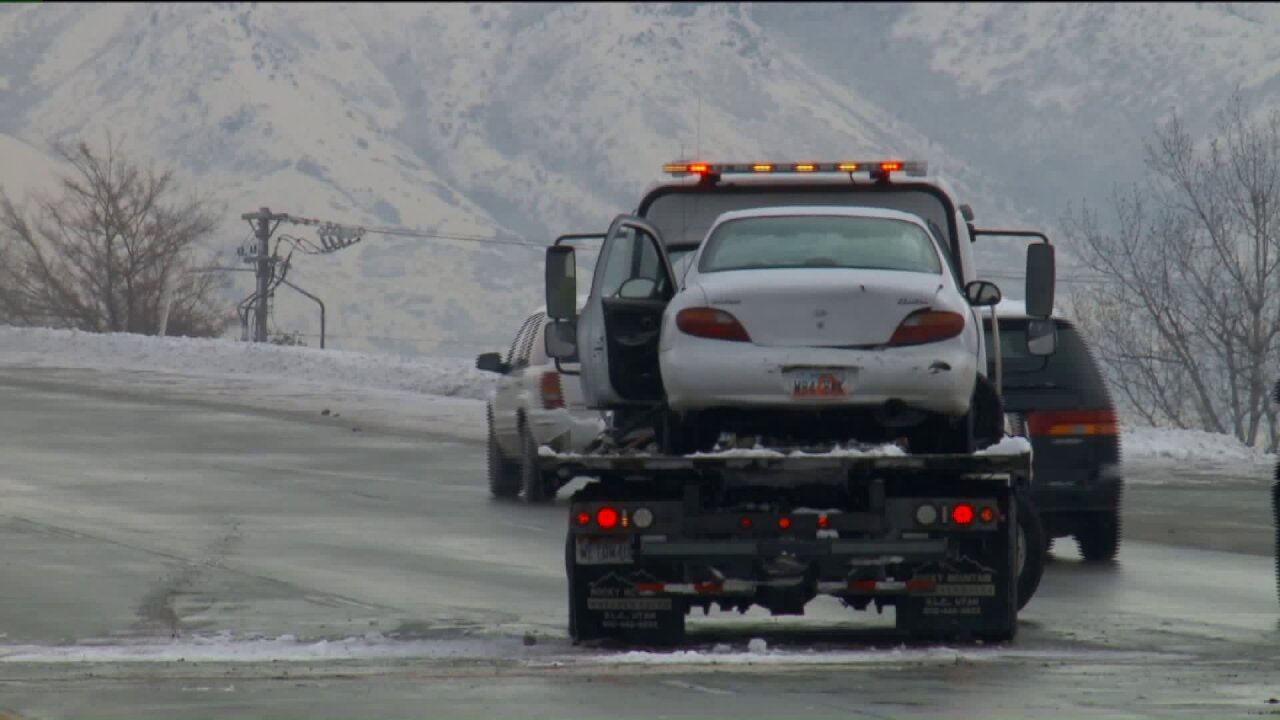 Christmas weekend snowstorm results in hundreds of car crashes throughoutUtah