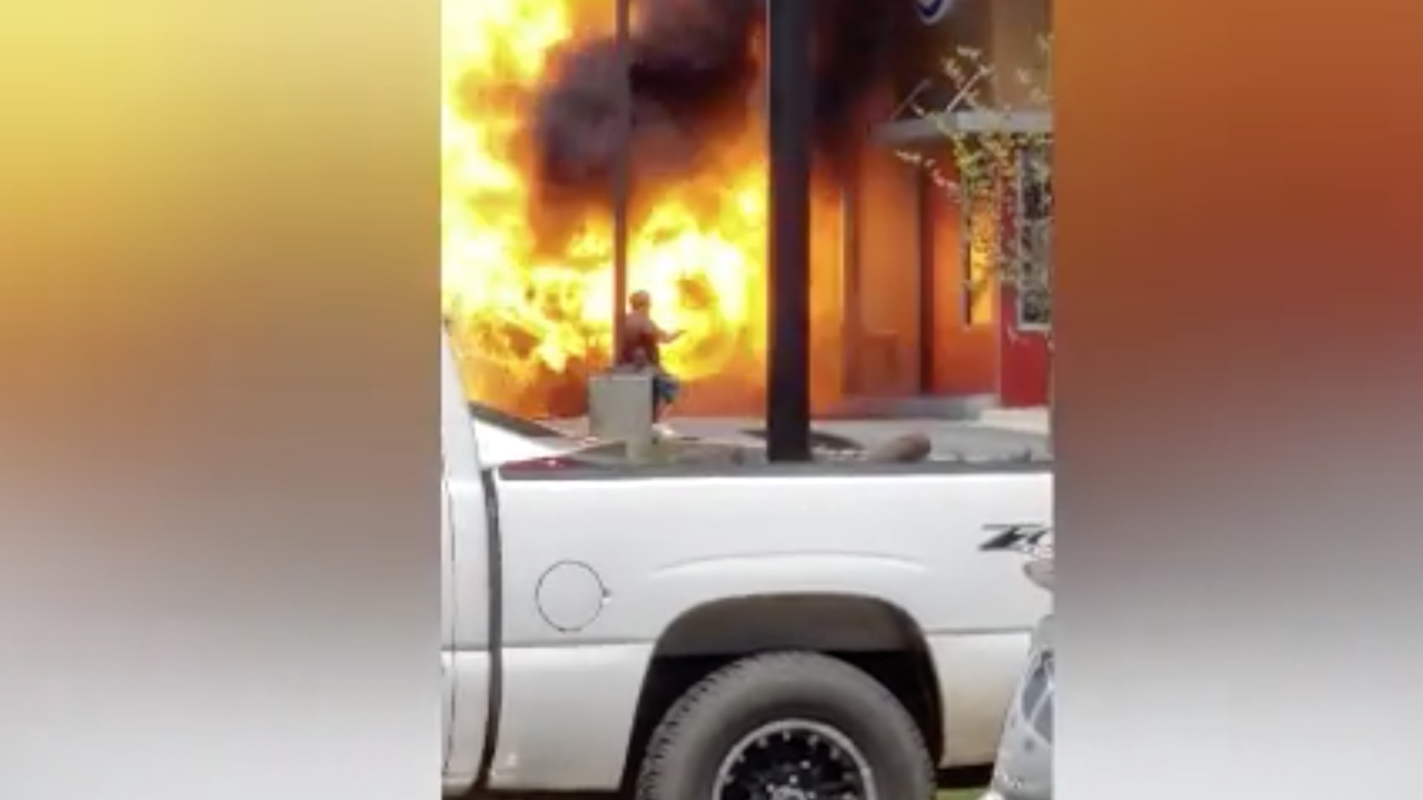 Man's truck explodes in drive-thru of Arkansas Burger King